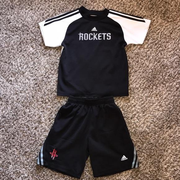 new concept 0c5fd 71a4e Adidas Youth NBA Houston Rockets 🚀 Jersey Shorts
